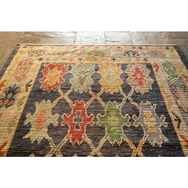 "2010s Modern Turkish 'Miquel' Oushak Rug- 5'7"" x 7' 6"" For Sale - Image 5 of 9"