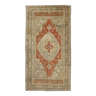 Vintage Turkish Oushak Rug with Modern Style For Sale