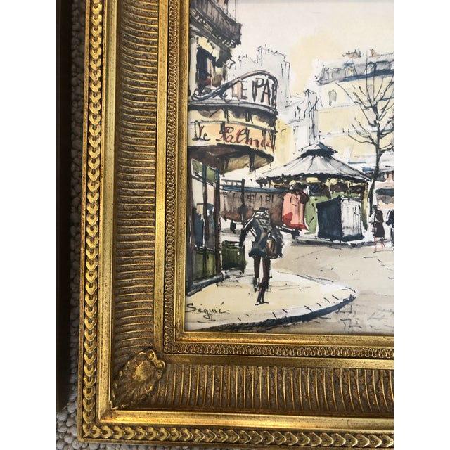 Scenes of Paris in Giltwood Frames -Set of 4 For Sale - Image 4 of 9