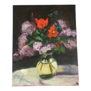 Vintage French Still Life Lilac Blooms For Sale