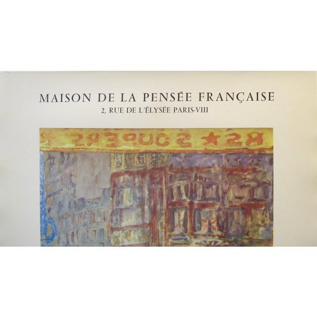 Figurative 1955 Original French Exhibition Poster, Bonnard For Sale - Image 3 of 7