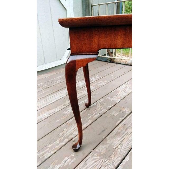 Brandt Vintage Traditional Brandt Mahogany Tea Table For Sale - Image 4 of 13