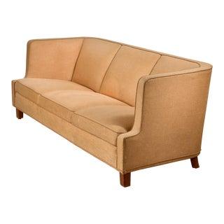 Yellow Danish Three-Seater Sofa, 1940s For Sale