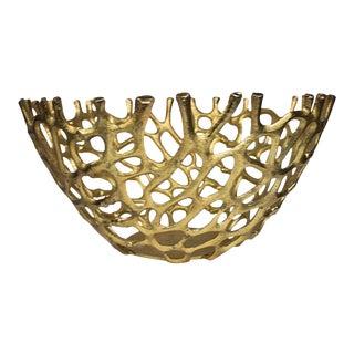 Gold Brutalist Bowl For Sale