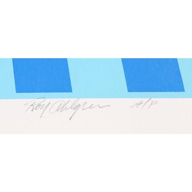 Artist: Roy Ahlgren, American (1927 - 2011) Title: Environment (Blue) Year: circa 1970 Medium: Serigraph, signed and...