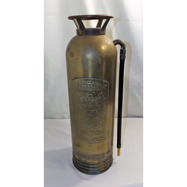 Vintage Brass Industrial Fire Extinguisher - Image 2 of 8