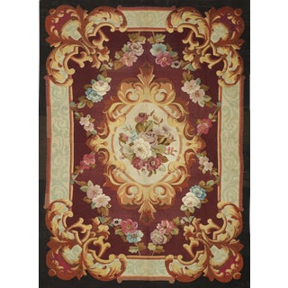 Mid-19th Century Handwoven Antique Aubusson Rug For Sale