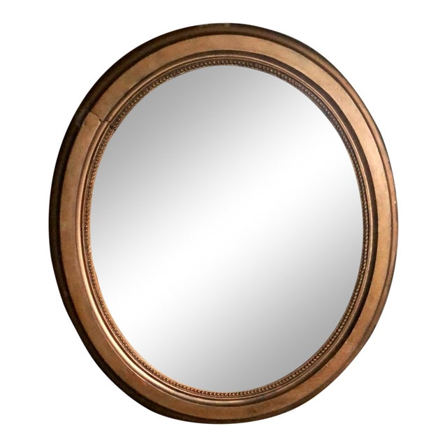 Early 20th Century Antique Framed Gold Mirror For Sale