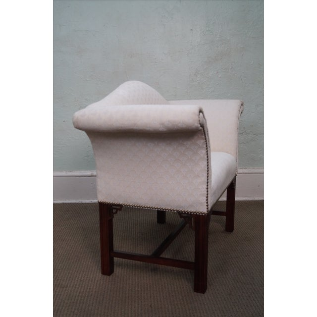 Chippendale Chippendale-Style Settee Bench For Sale - Image 3 of 8