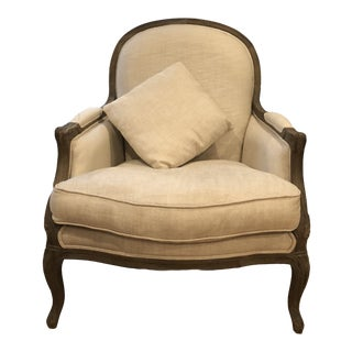 Modern Restoration Hardware Almond Chair For Sale