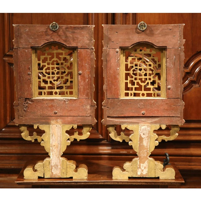 18th Century Italian Carved Polychrome & Gilt Wall Carvings - A Pair For Sale - Image 10 of 10