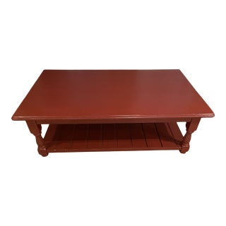 Contemporary Red Coffee Table For Sale