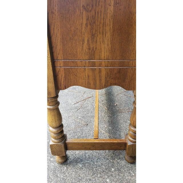 Brown Vintage Telephone Desk For Sale - Image 8 of 12