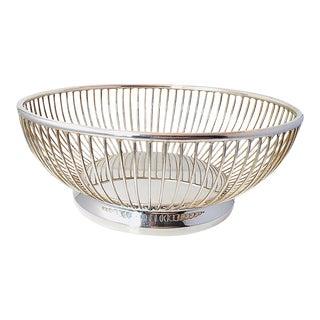 """Vintage """"Gorham"""" Wire Silverplate Bread Basket"""