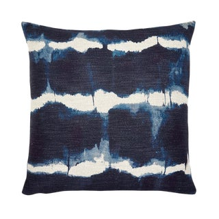 """Piper Collection Tie Dye Navy """"Gilbert"""" Pillow For Sale"""