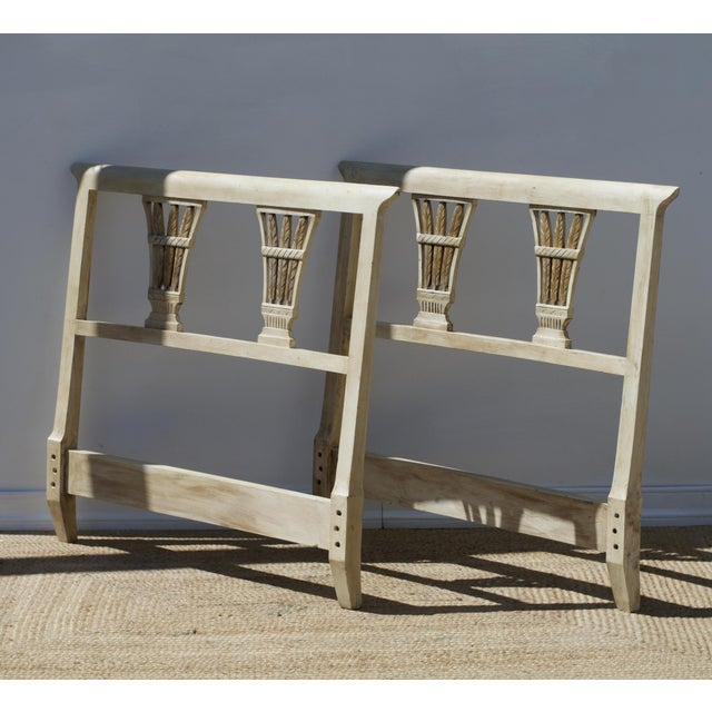 Painted Regency Twin Headboards, a Pair For Sale - Image 4 of 9