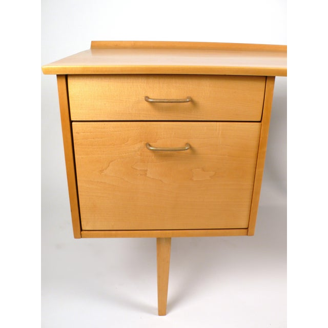 Brown Early Milo Baughman Desk For Sale - Image 8 of 9