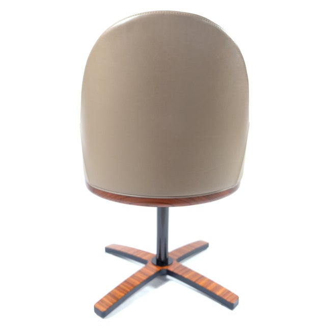 """Medea Mobilidea """"Chic"""" Swivel Chairs Designed by Umberto Asnago- a Pair For Sale In Miami - Image 6 of 12"""