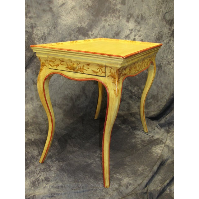 Italian Italian Vintage Hand Painted End Table For Sale - Image 3 of 7