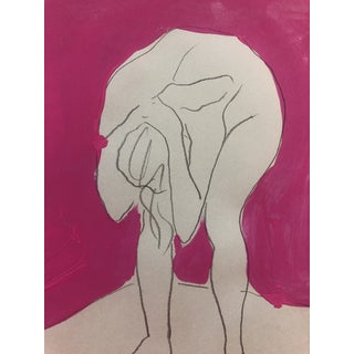 Anguished Female Nude by James Bone 1990s For Sale