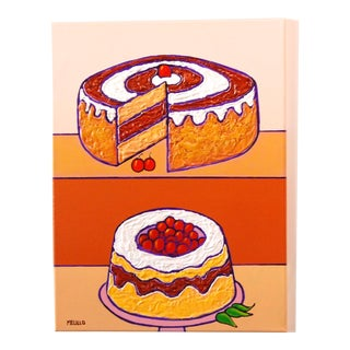 Pop Art Mixed Media, Cheesecake by Tom Melillo For Sale