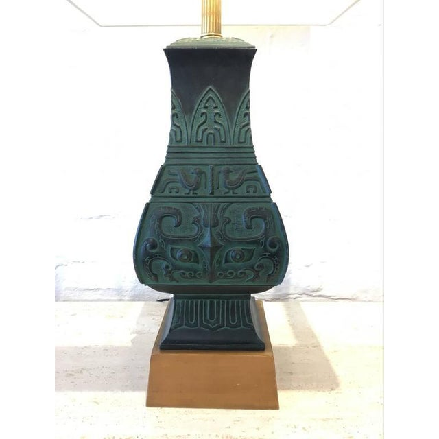 Bronze Table Lamps in the Manner of James Mont - A Pair - Image 7 of 9