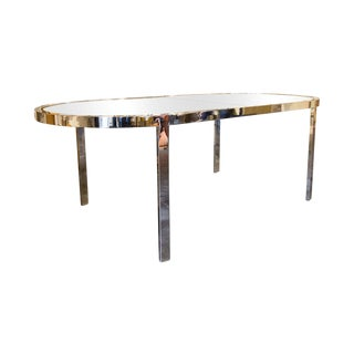 Chrome Oval Dining Table by Milo Baughman for the Design Institute of America For Sale