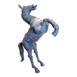 Reared Up Bronze Hanging Horse