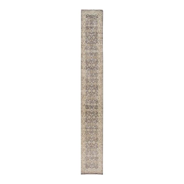 "Apadana - 21st Century Oushak Style Rug, 2'7"" x 19'9"" For Sale"