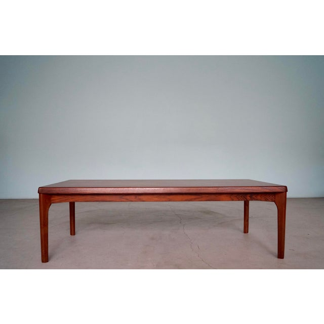 Rosewood Mid-Century Danish Modern Rosewood Coffee Table For Sale - Image 7 of 12