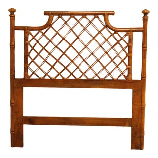 Vintage Faux Bamboo and Rattan Twin Headboard For Sale