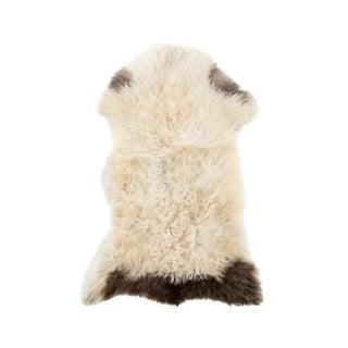 """Contemporary Natural Sheepskin Pelt - 1'10""""x2'10"""" For Sale"""