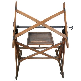 French 19th Century Wooden Drafting Table For Sale