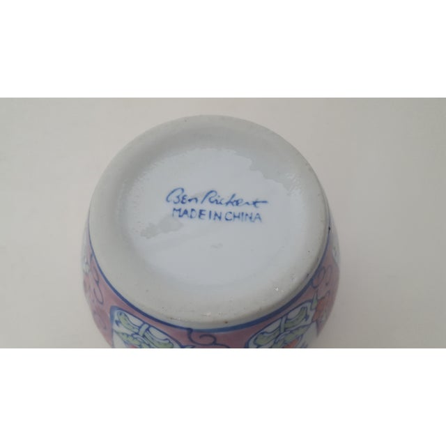 Vintage Chinoiserie Floral Porcelain Cachepot - Image 6 of 7