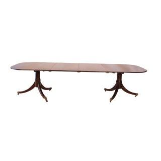 1790s Antique Georgian Mahogany 2 Pedestal Dining Table