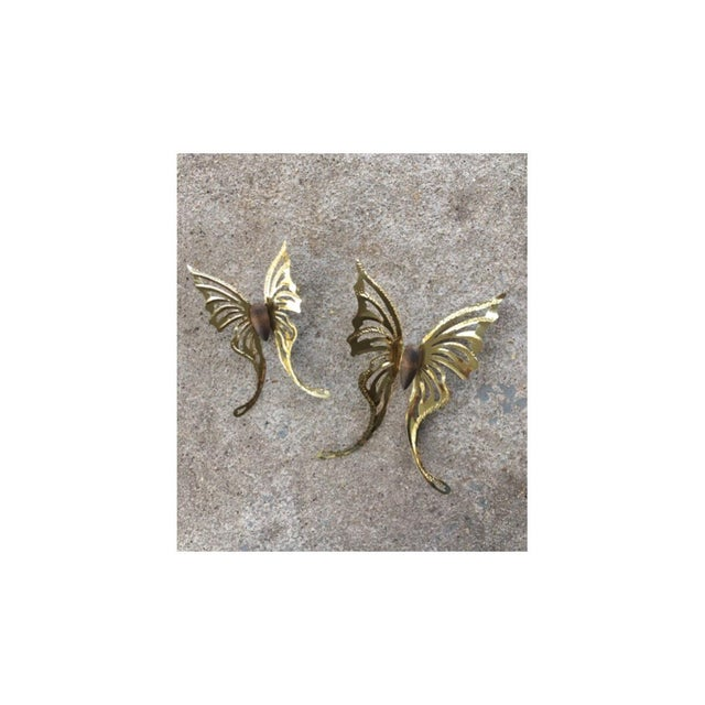 Vintage Butterfly Wall Decors - A Pair - Image 2 of 3