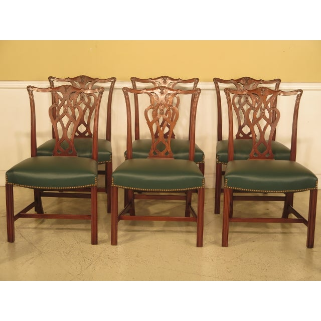 Chippendale Mahogany Dining Room Chairs - Set of 8 - Image 2 of 11