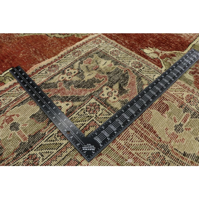 Mid 20th Century Vintage Turkish Oushak Rug - 7′2″ × 11′5″ For Sale - Image 5 of 10