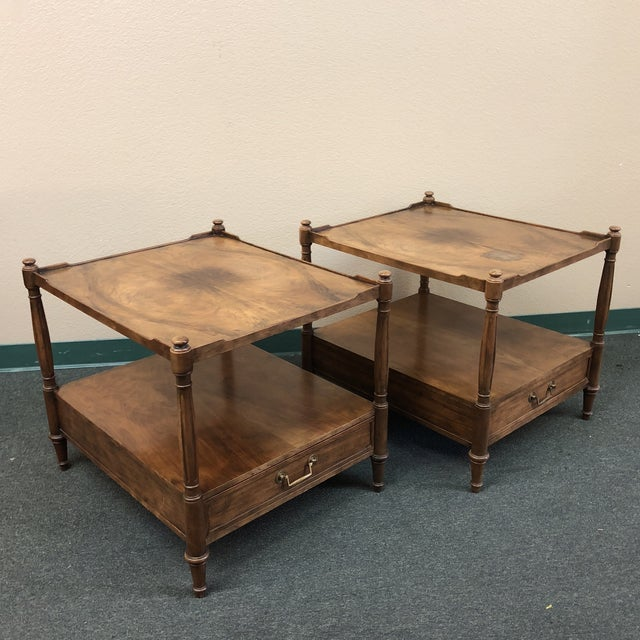 Baker Furniture Mid-Century Side Tables - a Pair For Sale - Image 9 of 11
