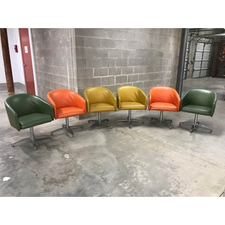 1950s Mid Century Modern Barrel Chair Dining Set by Chromcraft - 7 Pieces Preview