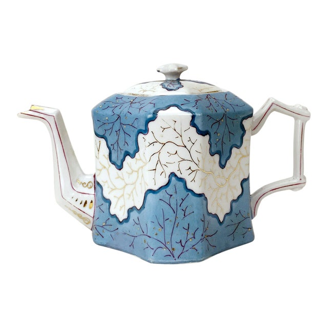 Rs Prussia Blue & White Angle Teapot For Sale