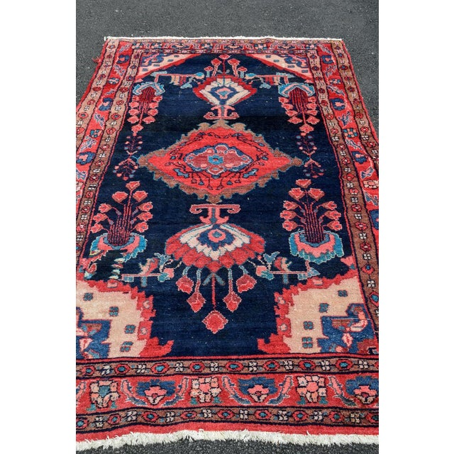 Vintage Mid-Century Hand-Knotted Persian Rug - 4′8″ × 9′11″ For Sale - Image 10 of 13