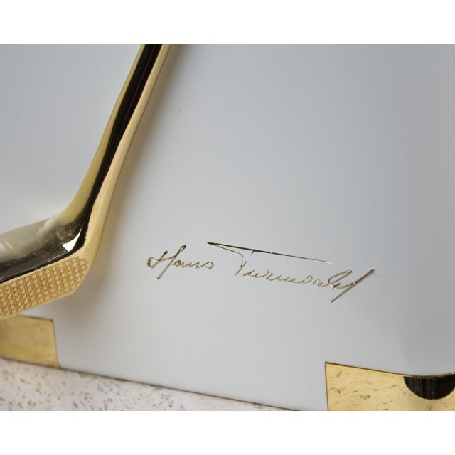 Vintage White and 24k Gold Turnwald Collection Golf Ice Bucket For Sale - Image 9 of 11