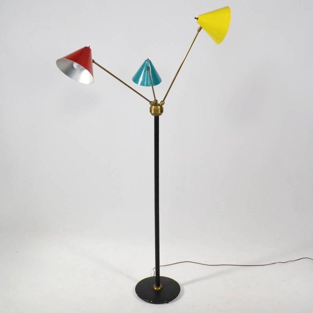 1950s Italian Three-Arm Floor Lamp For Sale - Image 5 of 11