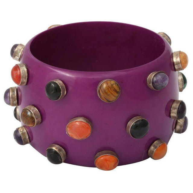 Purple Purple Bangle Bracelet For Sale - Image 8 of 8