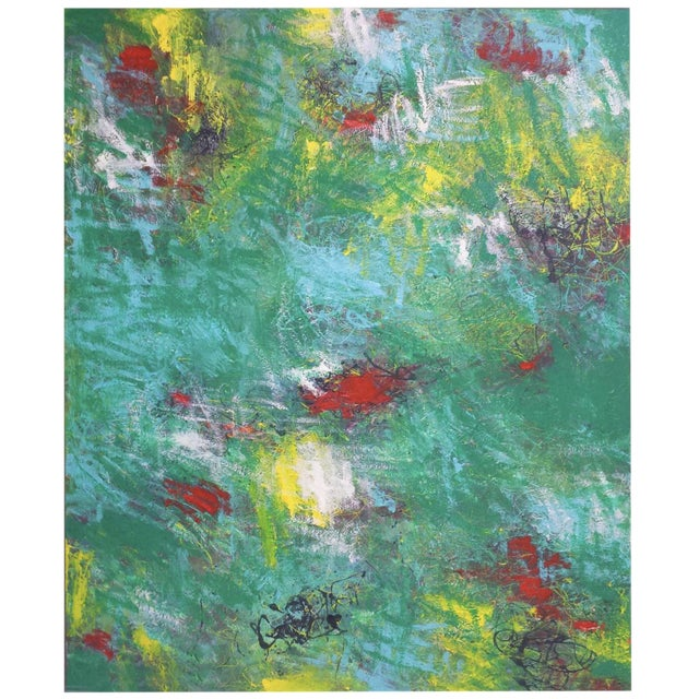 Mirtha Moreno Contemporary Abstract Oil Painting on Canvas For Sale