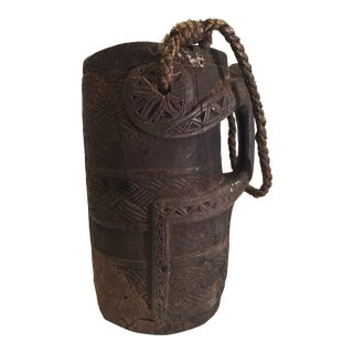 19th Century Nepalese Wooden Jug For Sale