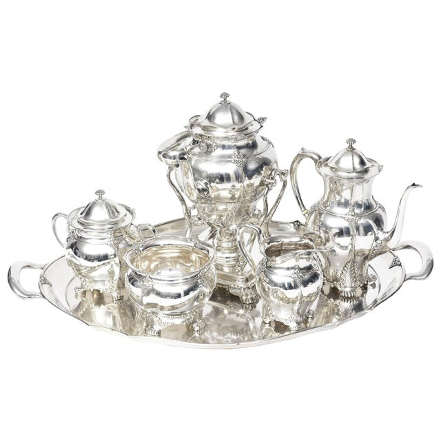 1899 Antique Victorian Tiffany & Co Sterling Tea Coffee Set - 7 Pieces For Sale