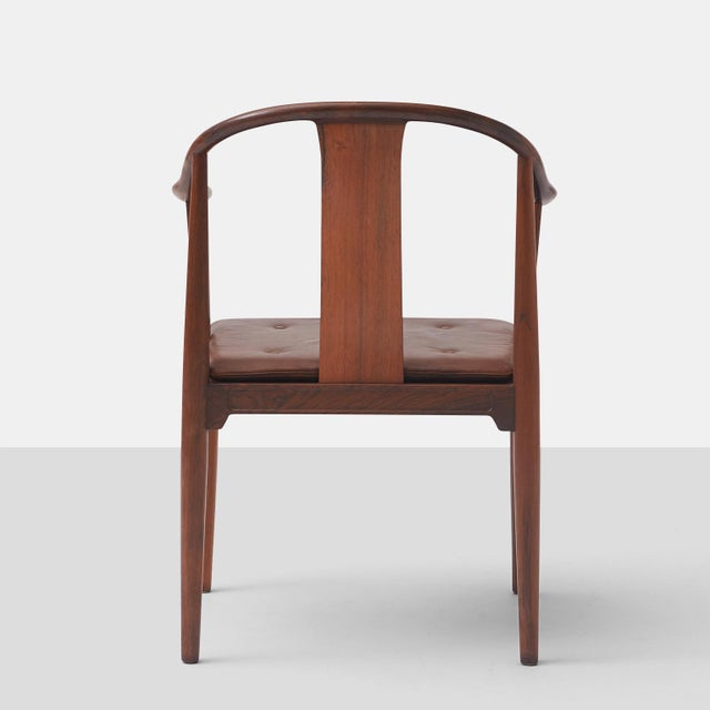 """Pair of Rosewood """"China"""" Chairs by Hans J Wegner For Sale In San Francisco - Image 6 of 10"""