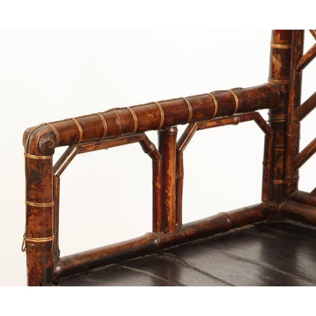 Asian 19th Century Chinese Bamboo Arm Chair For Sale - Image 3 of 9